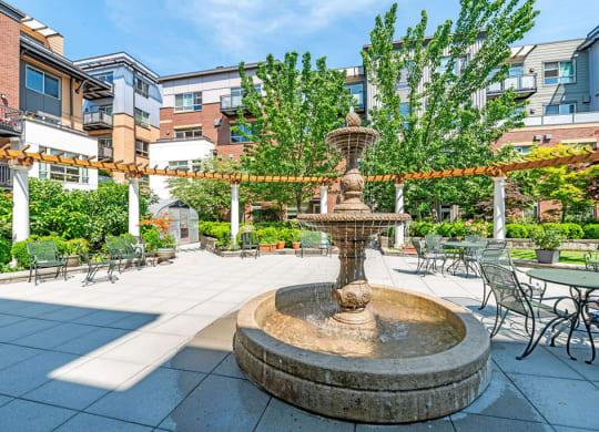 Beautiful Courtyard at The Corydon, Seattle