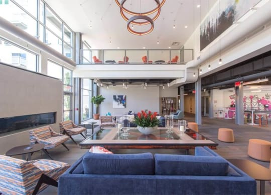 Spacious Lobby at The Foundry at 41st new Apartments, Lawrenceville 15201