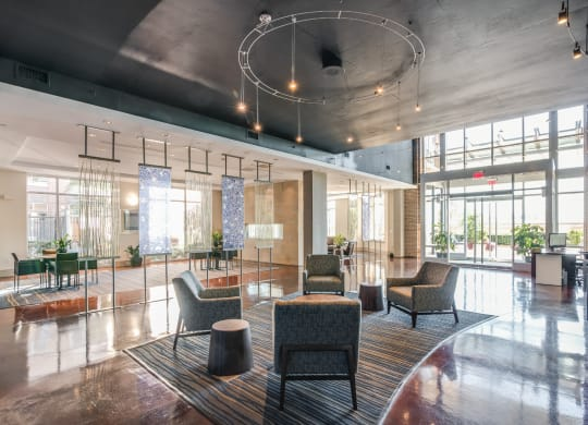 Modern Lobby with Concierge at Crescent at Fells Point by Windsor, Baltimore, Maryland