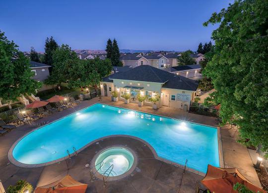 Views of Pleasanton Ridge at The Kensington, Pleasanton, California