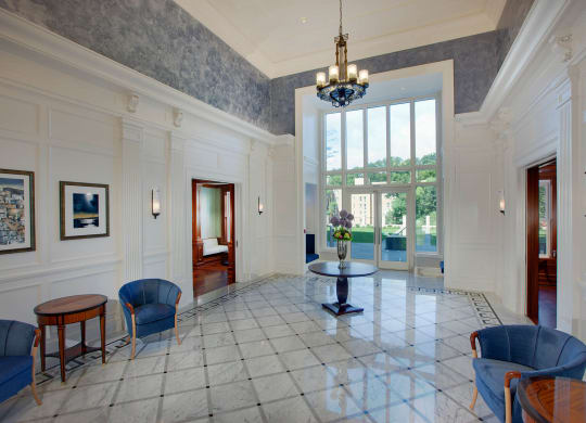 Contemporary Lobby Area at The Woodley, Washington, District of Columbia