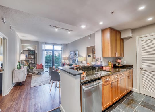 Granite Countertops in Kitchens at Halstead Tower by Windsor, Alexandria, 22302