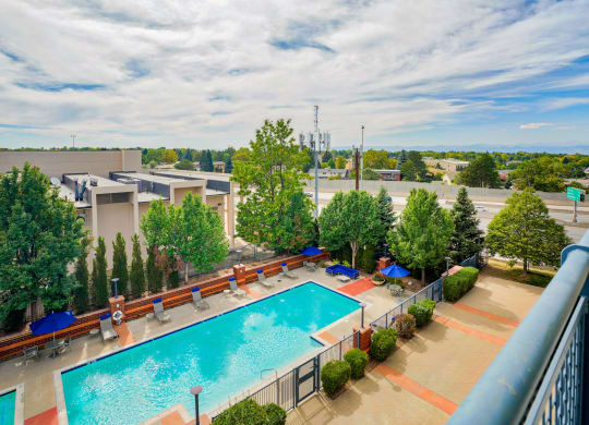 Resort style pool at The District, CO, 80222