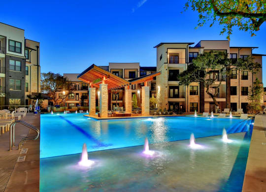 Sparkling Swimming Pool at Windsor Ridge, Austin, Texas