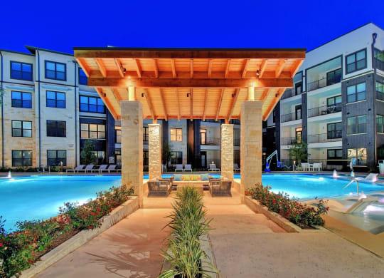 Poolside Lounge Area at Windsor Ridge, Austin, TX