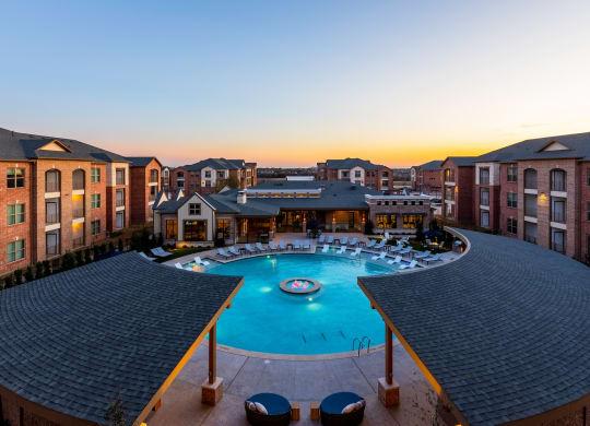 Twilight Pool View at Windsor Castle Hills, Carrollton, TX, 75010