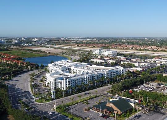 Aerial View Of The Community at Windsor at Pembroke Gardens, Pembroke Pines, Florida
