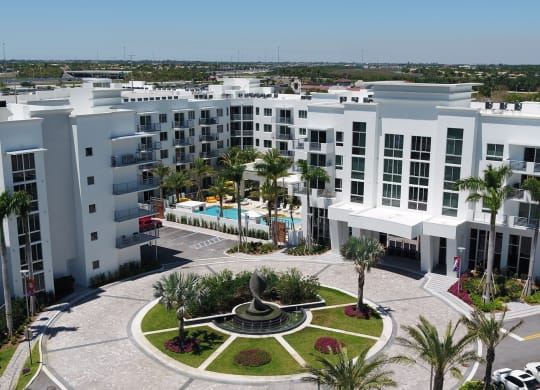 Aerial View Of The Property at Windsor at Pembroke Gardens, Pembroke Pines, Florida