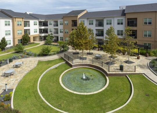 Courtyard water feature at Domain by Windsor, TX, 77077