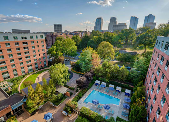 Aerial view of pool at Windsor at The Gramercy, NY, 10601