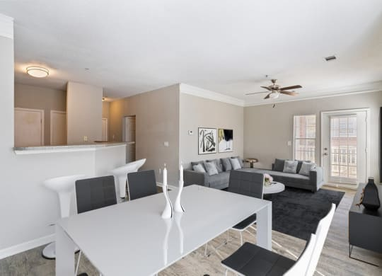 Model dining room and living room