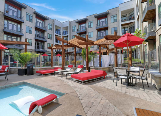 Poolside Lounge Furniture at Avant Apartments, Carmel, IN, 46032
