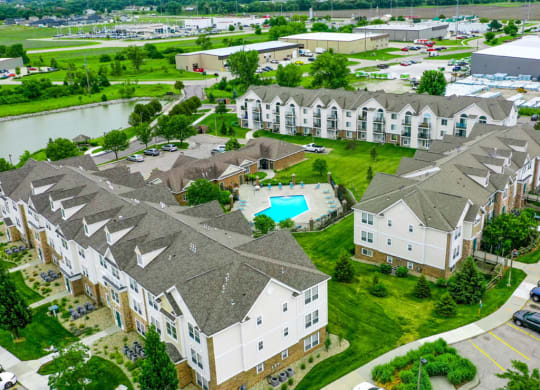 Aerial View Of The Property at Black Sand Apartment Homes, Lincoln, NE, 68504