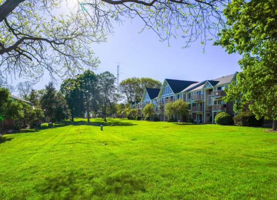 Lush Green Outdoor Spaces at Concord Place Apartments, Kalamazoo, Michigan