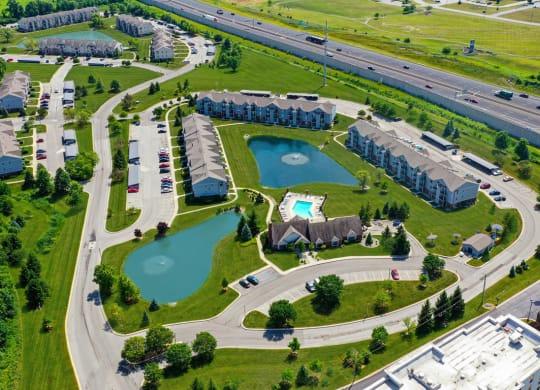 View of Community at Dupont Lakes Apartments, Fort Wayne
