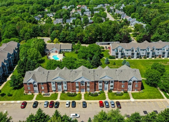 Property Ariel View at Foxwood and The Hermitage, Michigan, 49024