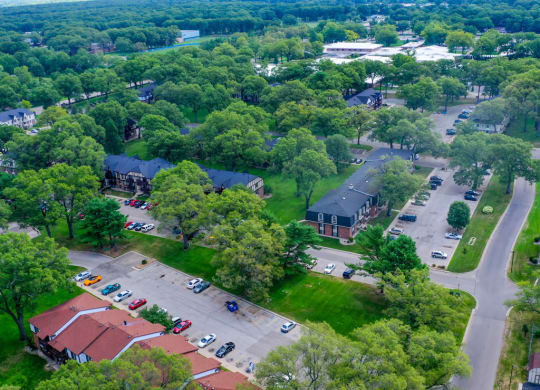 Aerial View Of The Community at Glen Oaks Apartments, Muskegon, Michigan