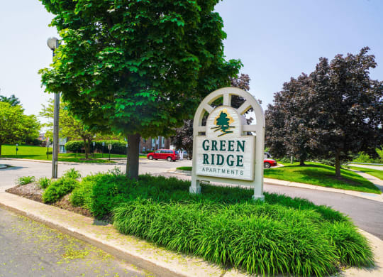 Entrance Sign at Green Ridge Apartments, Grand Rapids, MI