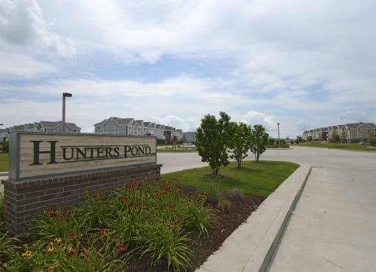 Property Signage at Hunters Pond Apartment Homes, Illinois