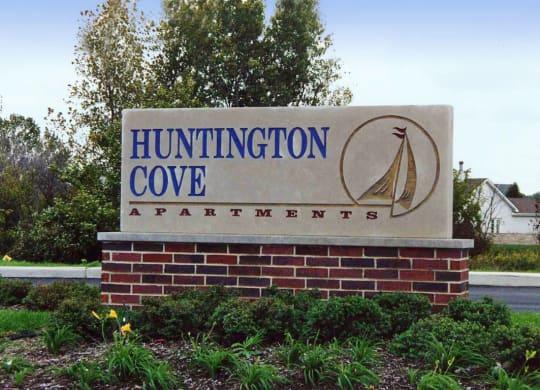 Property Signage at Huntington Cove Apartments, Merrillville, Indiana