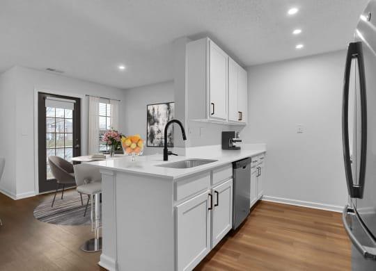 Kitchen Angle at Latitudes Apartments, Indiana, 46237