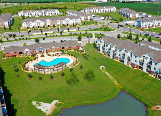 Bird's Eye View of Property at Limestone Creek Apartment Homes, Alabama