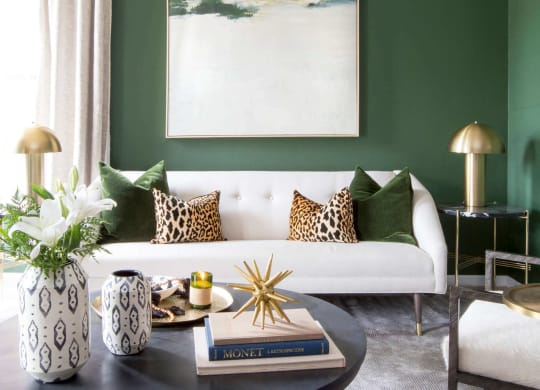 Classic Living Room Furnishings at Enclave Apartments, Midlothian, VA, 23114