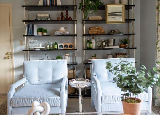 Model Living Room Furnishings at Pheasant Run, Indiana, 47909