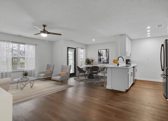 Newly Refurbished Model Kitchen at Latitudes Apartments, Indiana