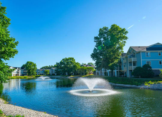 Pond Community View at North Pointe Apartments, Elkhart, 46514