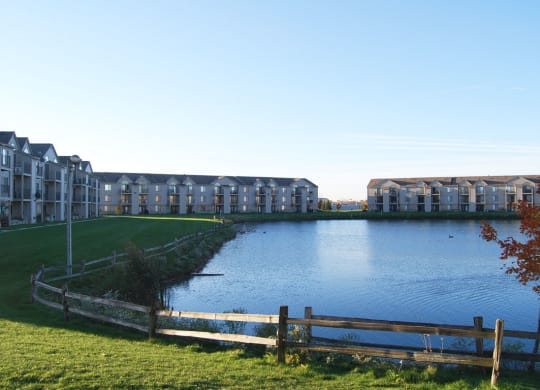 Scenic Pond Views at Oak Shores Apartments, Wisconsin, 53154