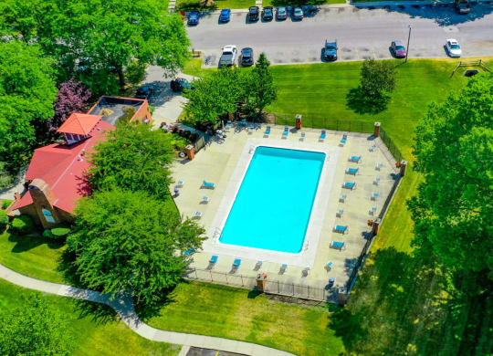 Pool Top View at Old Farm Apartments, Elkhart