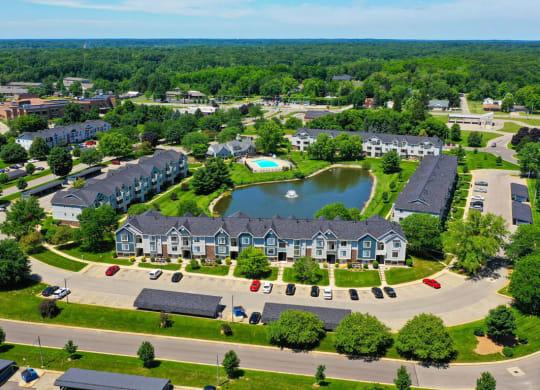 Breathtaking Pond View at Pine Knoll Apartments, Battle Creek, MI