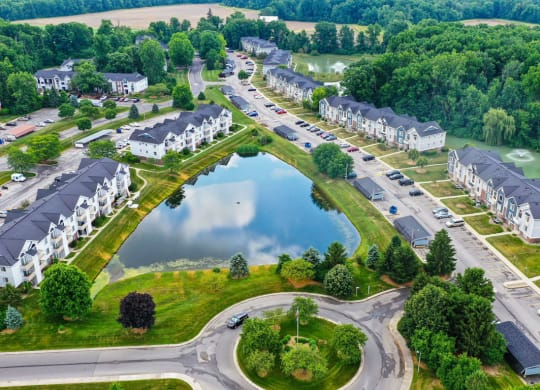 Beautiful Pond View From Property at South Bridge Apartments, Indiana