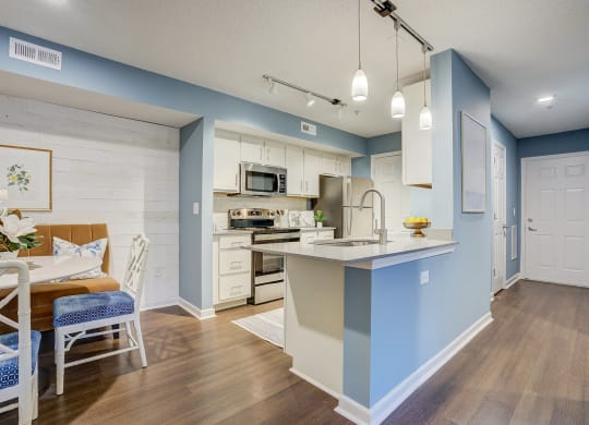 Fully Equipped Kitchen With Modern Appliances at Sunscape Apartments, Roanoke, VA