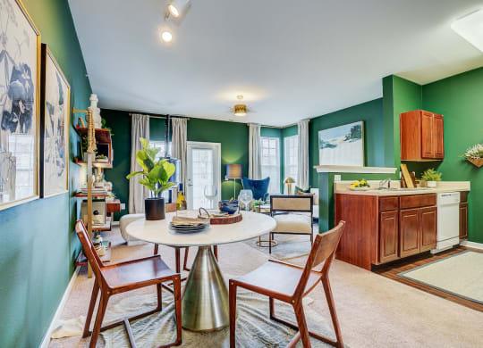 Model Living Room at Brickshire Apartments, Indiana