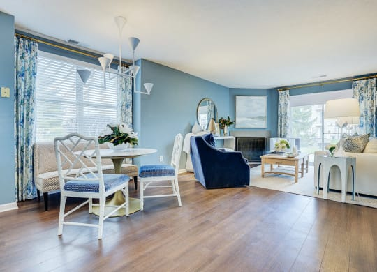 Living Room With Plenty Of Natural Light at Mallard Bay Apartments, Crown Point, IN