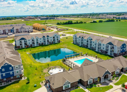 Drone View Of The Community at The Reserve at Destination Pointe, Grimes