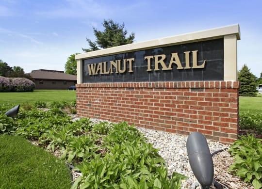 Property Signage at Walnut Trail Apartments, Portage, MI, 49002