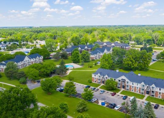 Beautiful Aerial Views at Waverly Park Apartments, Lansing
