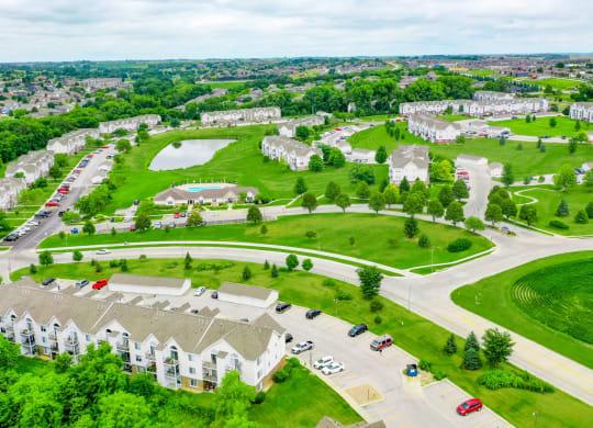 Breathtaking Aerial View at West Hampton Park Apartment Homes, Elkhorn, 68022