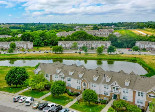 Aerial View Of The Property at West Hampton Park Apartment Homes, Elkhorn, NE, 68022