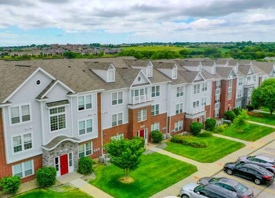 Aerial Exterior View at West Hampton Park Apartment Homes, Elkhorn, NE