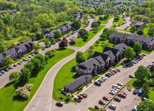Aerial View Of The Community at Wingate Apartments, Kentwood, MI
