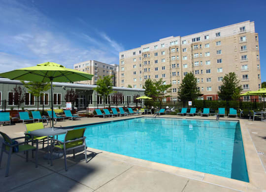 HighPoint Apartments Pool and Outdoor Living, Movies, and BBQ, Quincy MA