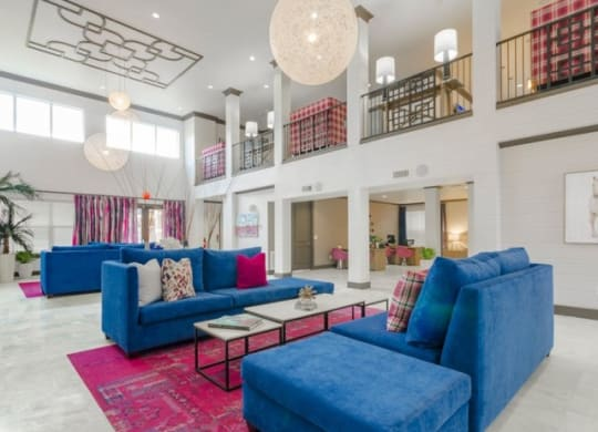 Lounge Area With Fireplace at McKinney Square, McKinney, Texas