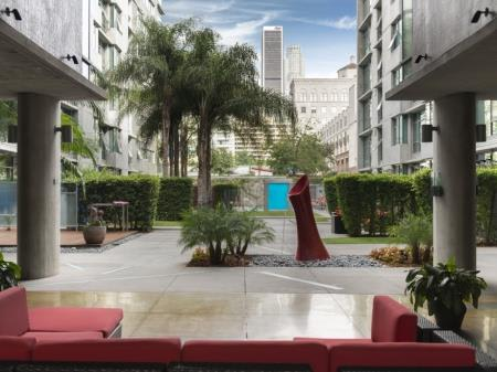 Courtyards With Water Features at Met Lofts, California, 90015