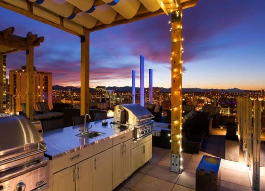 Rooftop Grill Station at 2020 Lawrence, DENVER, 80205