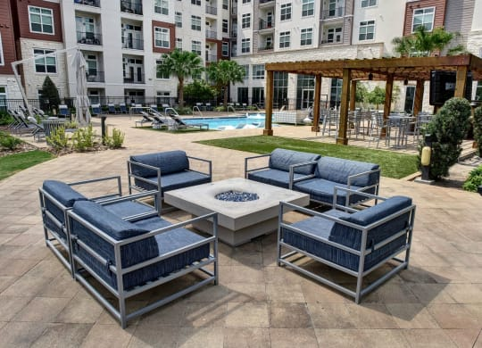Poolside Lounge Area at Vargos on the Lake, Houston, TX