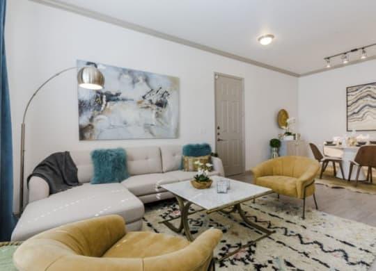 Modern Living Room at Berkshire Preserve, Texas, 75044